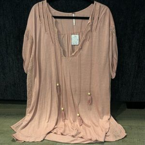 nwt blush pink free people cover up size small